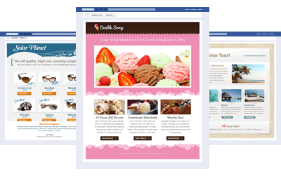 Custom Facebook pages from Pagemodo