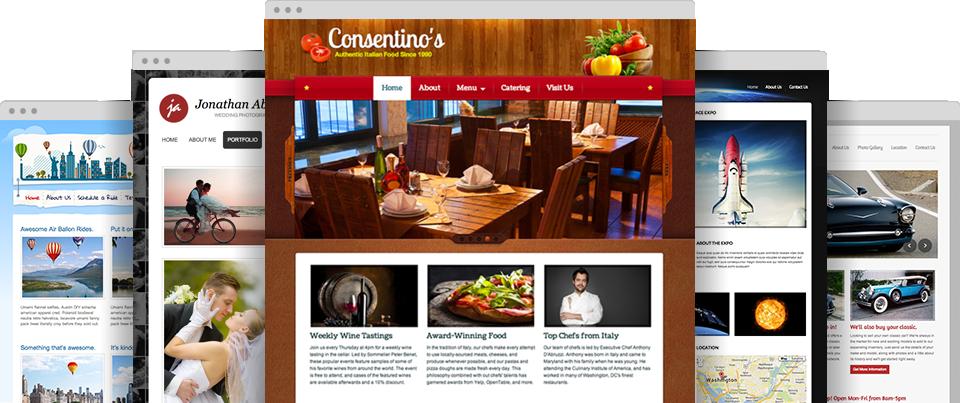 Eine große Auswahl professioneller Website-Themen