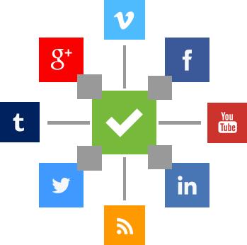Ikoner for sosiale medier til nettstedet