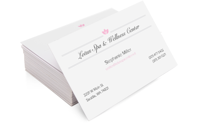 Custom business cards and free stamp from Vistaprint