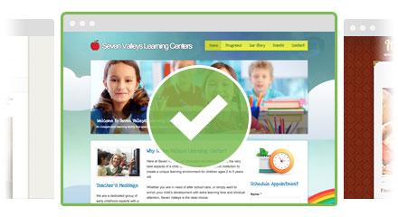 Færdige hjemmesider med design og indhold