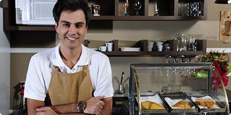 Pequeños empresarios: la cafetería de John