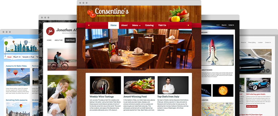 Forskellige professionelle hjemmesidedesign