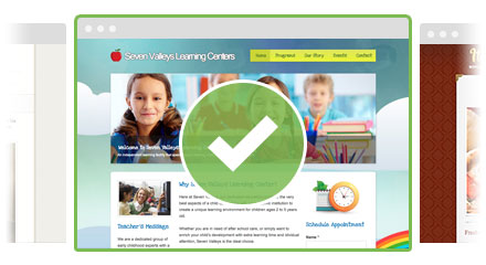 Completed websites with themes and content